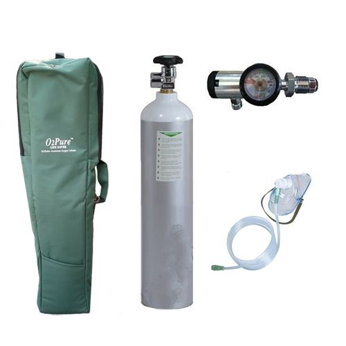 Oxygen Cylinder with Imported Click type Regulator Oxylife 4 5 Kit