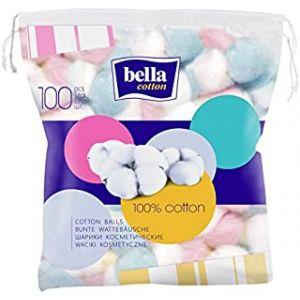 Bella 100% Cotton Balls - (1unit -100Pcs) Pack of 2