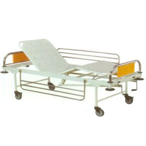 Fowler Bed With Railing & Castors