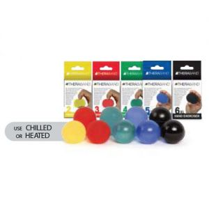 HAND EXERCISES & MASSAGE BALLS - Assorted/6 ea. of: Yellow Red Green & Blue