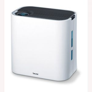 Air cleaning and air humidification in one