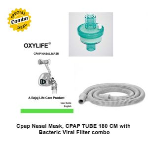 Cpap Nasal Mask, CPAP TUBE 180 CM with Bacteric Viral Filter combo
