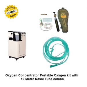 Oxygen Concentrator, Portable Oxygen kit with 10 Meter Nasal Tube combo