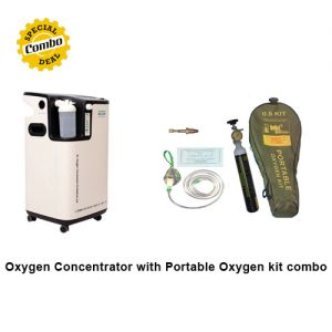 Oxygen Concentrator with Portable Oxygen kit - Combo Offer