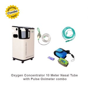 Oxygen Concentrator 10 Meter Nasal Tube with Pulse Oximeter combo