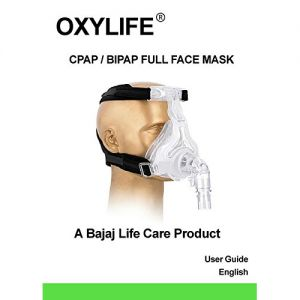 Oxylife CPAP/BIPAP Full Face Mask Medium Size with Headgear
