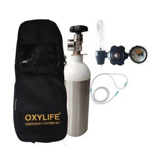 Portable Oxygen Kit - Oxylife Kit 2.2 (270 Liters Portable Oxygen Cylinder Kit)