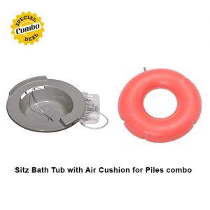 Sitz bath tube with rubber cushion for piles
